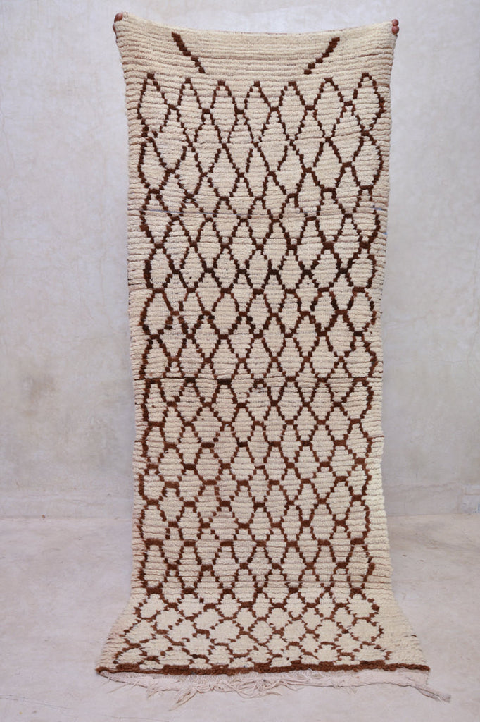 "How Wild It Was to LET IT BE Beni Ourain Runner Rug. 7'2"" x 2'8"""