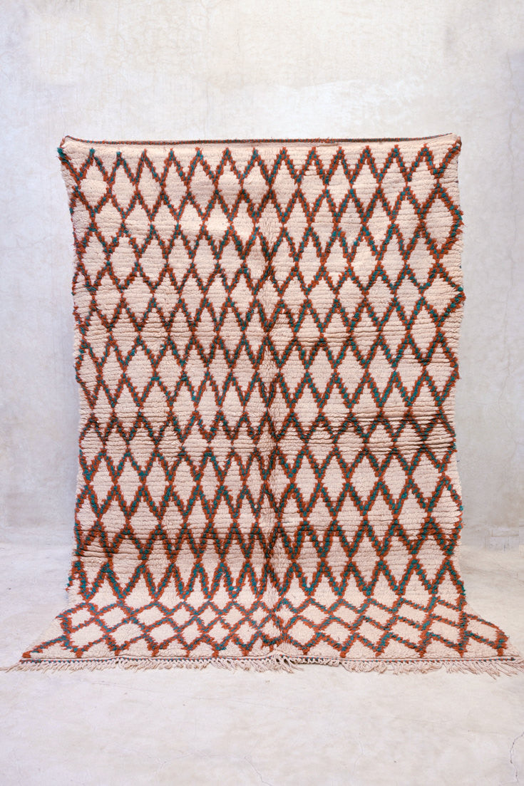 "RETURN WITH the MORNING Azilal Rug. 7'3"" x 4'10"""