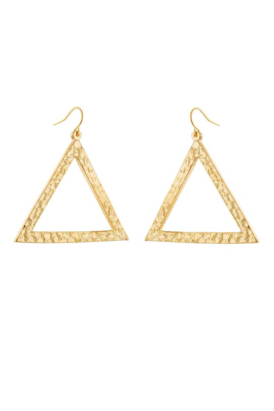 tryst gold dangle earrings