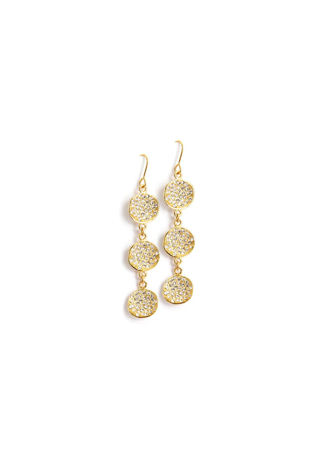 Cirque Gold CZ Dangle Earrings
