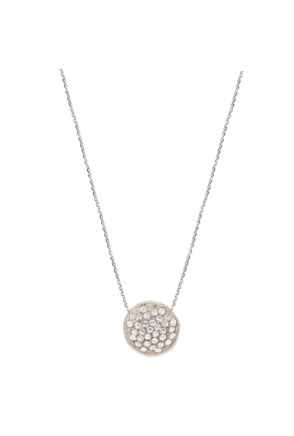 white gold cz pendant necklace