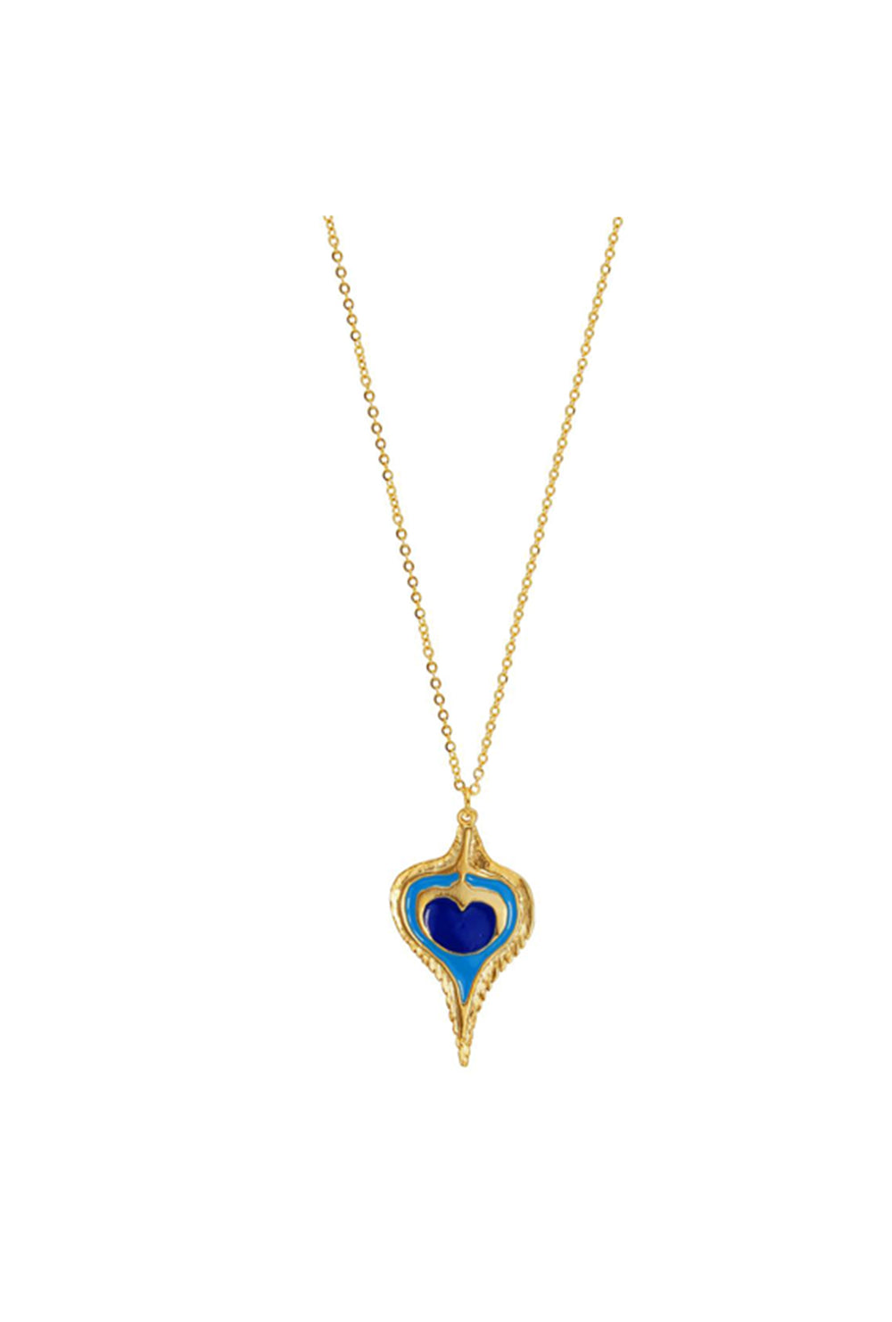 pavo gold pendant necklace