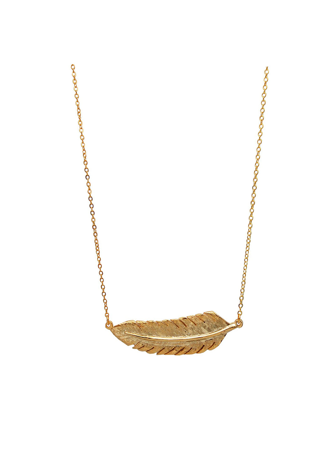 pinion gold leaf necklace
