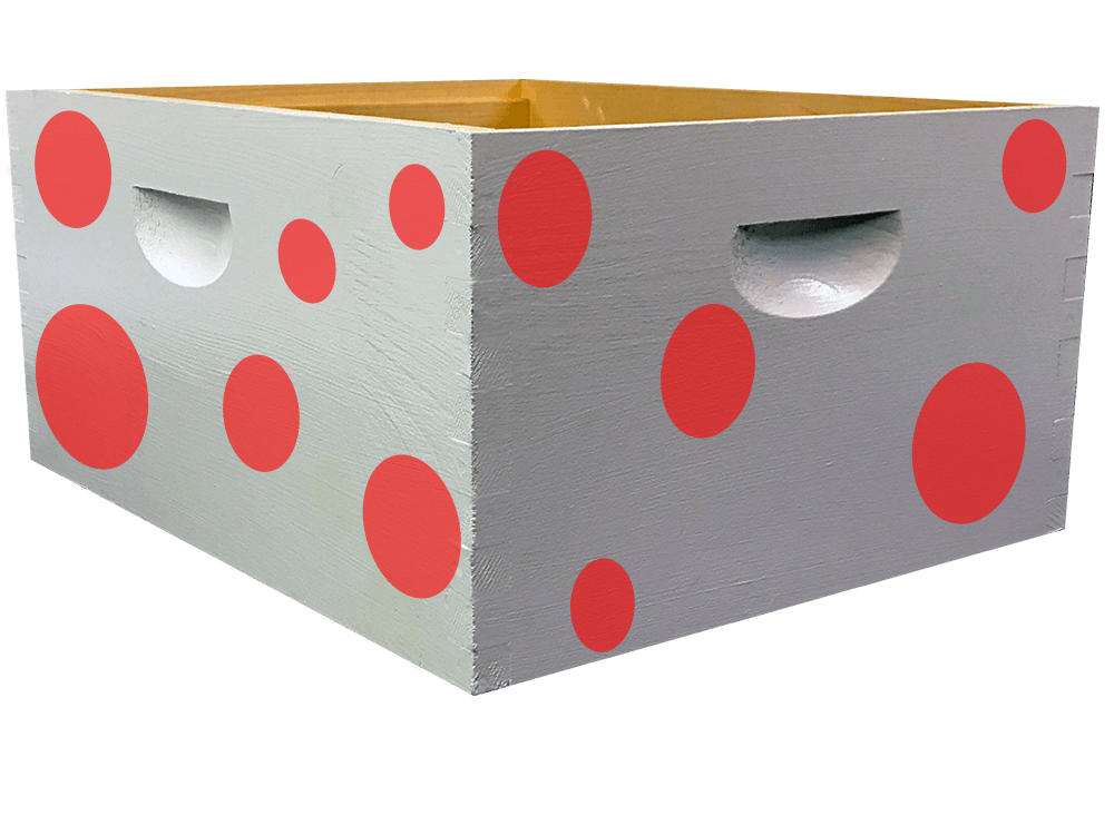 Red Polka Dot Bee Box Decal Kit