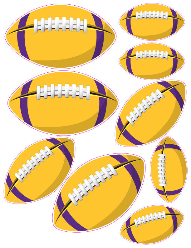 Purple and Gold Football Bee Box Decal Kit