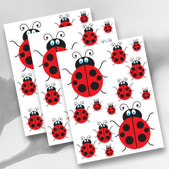 Lady Bug Bee Hive Decal Kit