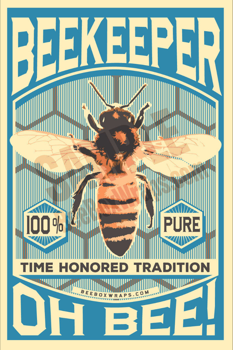 Oh Bee Beekeeper Poster