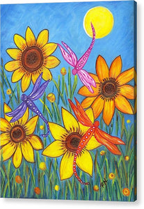 Sunflowers and Dragonflies Acrylic Print