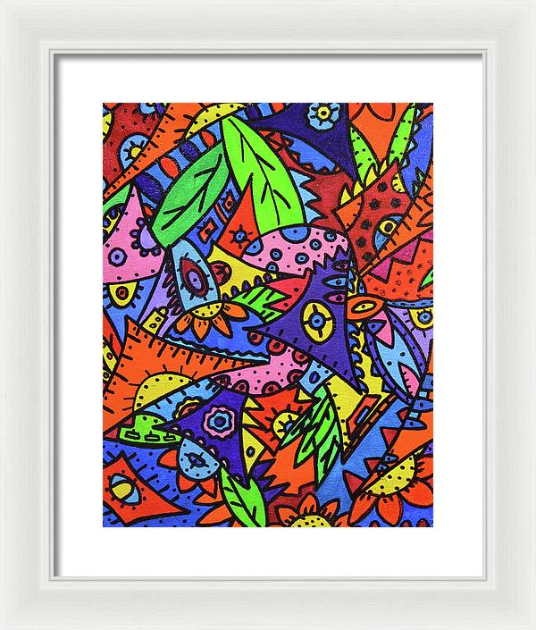 Happily Framed Print