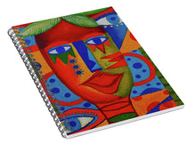 Load image into Gallery viewer, Mujer Roja  - Spiral Notebook