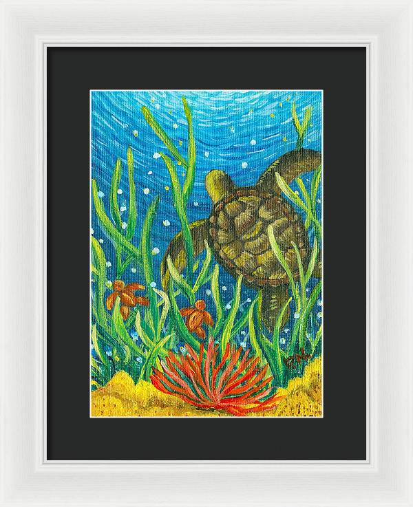 Sea Turtles Framed Print