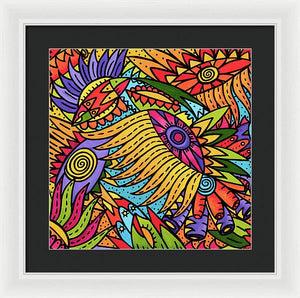 Sun Flower Glory  - Framed Print