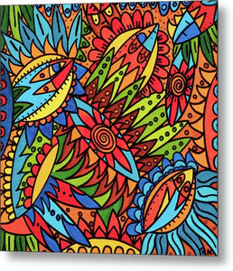 Tribal Fantasy Metal Print