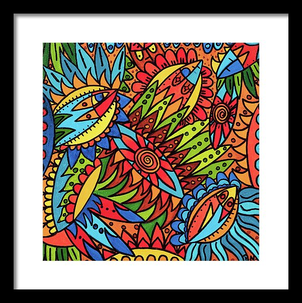 Tribal Fantasy Framed Print