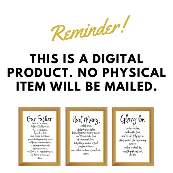 Reminder This is a Digital Product | www.catholicartstore.com