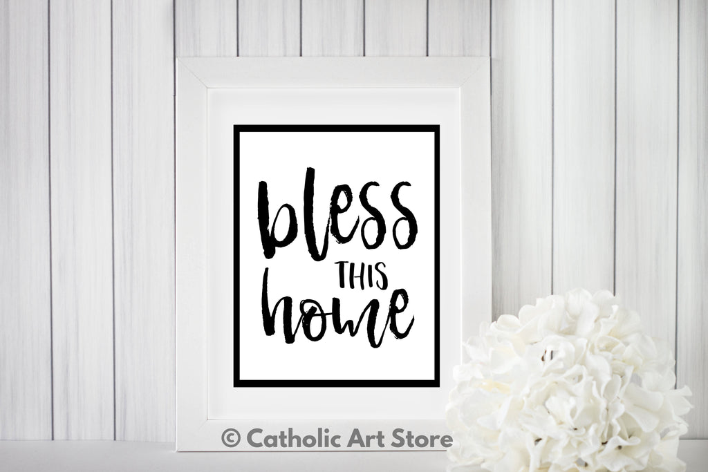 bless this home printable in frame