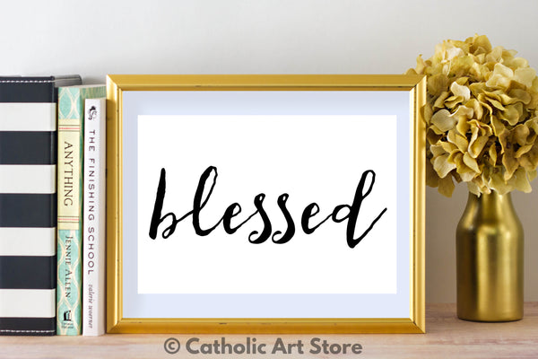 blessed printable in frame