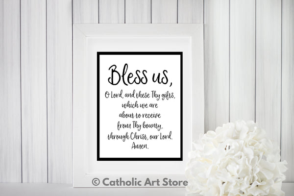 Grace Before Meal Printable | www.catholicartstore.com