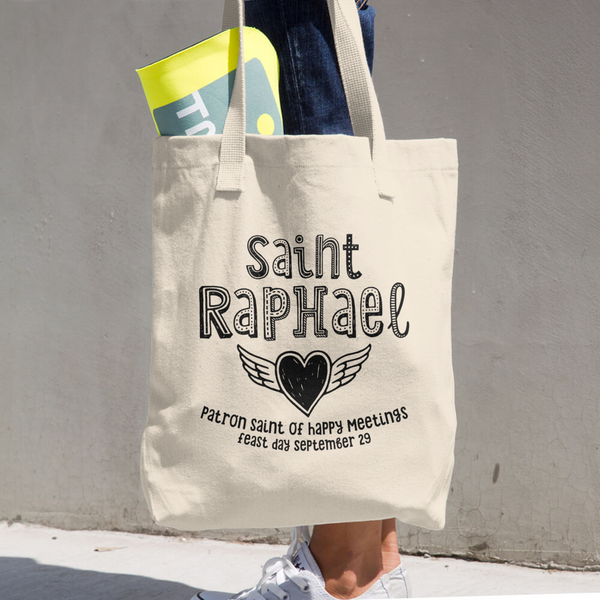 Saint Raphael Patron Saint of Happy Meetings Tote Bag