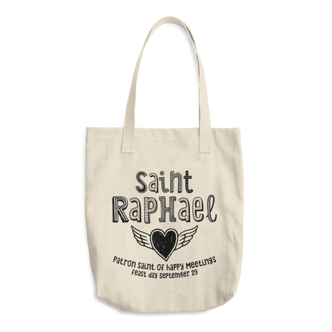 Saint Raphael Tote Bag - Patron Saint of Happy Meetings - Catholic Saint Gift