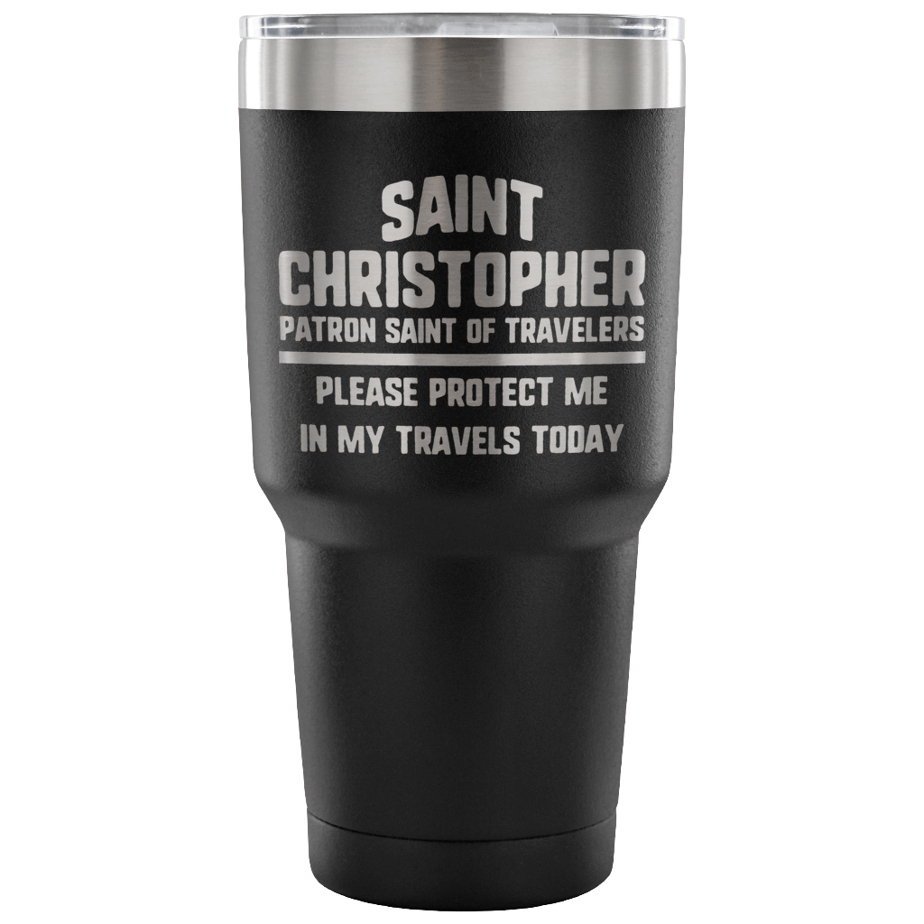 St. Christopher Travel Tumbler | www.catholicartstore.com
