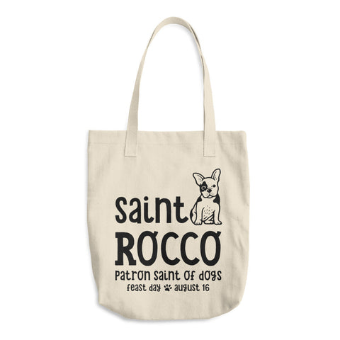St. Rocco Tote Bag - Patron Saint of Dogs - Dog Park Tote Bag