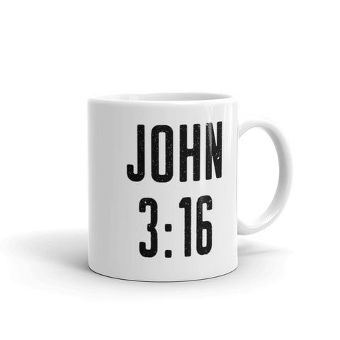 John 3:16 Coffee Mug - Bible Verse Home Decor - Catholic Graduation Gift