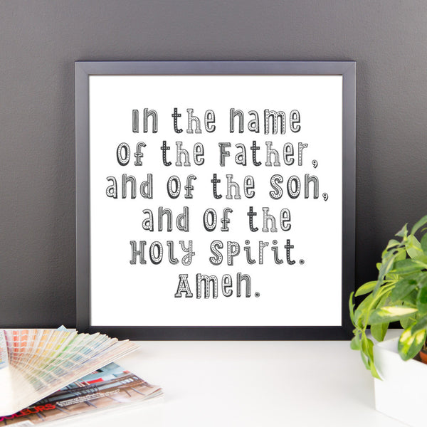 in the name of the father framed print