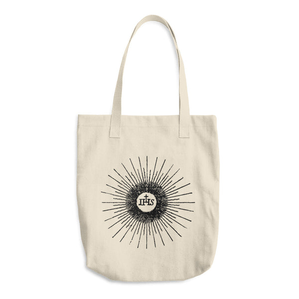 IHS Cotton Tote Bag - Jesus Christ Monogram - Vintage Catholic Image