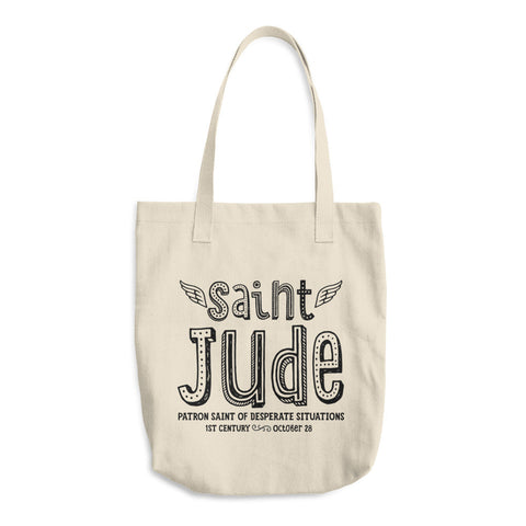 Saint Jude Tote Bag - Patron Saint of Desperate Situations - Catholic Reusable Bag