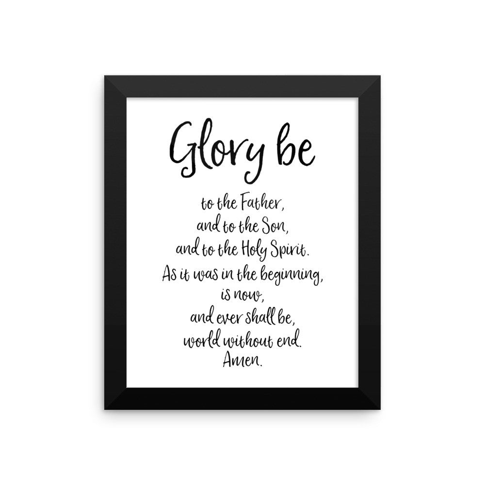 glory be framed print