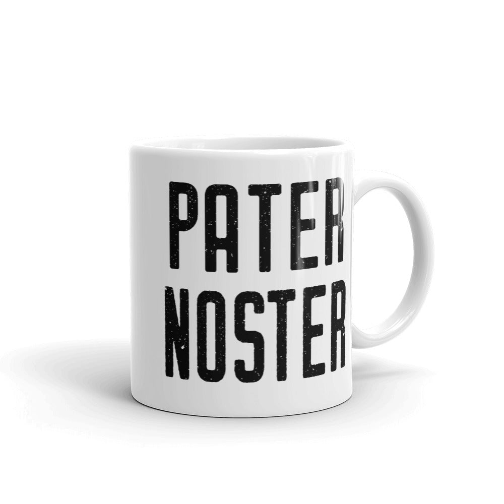 Pater Noster Latin Prayer Mug - Catholic Coffee Cup - Our Father Prayer - Priest, Nun, Deacon, & Clergy Gift Idea