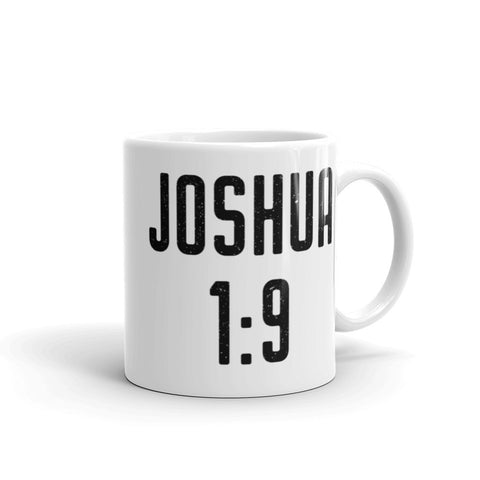 "Joshua 1:9 Bible Verse Mug - ""Do not fear"" Coffee Cup - Catholic Encouragement Gift Idea"