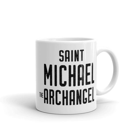 St. Michael the Archangel Protection Prayer Mug - Angel Gift for Catholic Priest, Nun, Friend