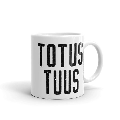 "Totus Tuus Mug - Pope John Paul II ""Totally Yours"" - Catholic Pope Motto - Nun Priest Deacon Gift - Baptism RCIA Confirmation Graduation"