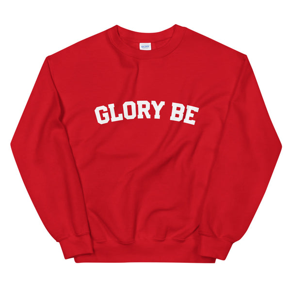 GLORY BE Sweatshirt - Prayer - Catholic Missionary Gift - Baptism RCIA Confirmation Altar Server Choir Missionary Bible Study Leader