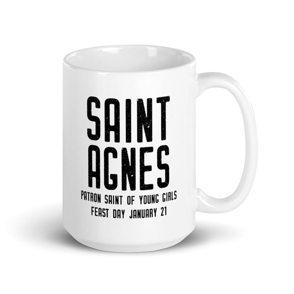 St. Agnes Quote Mug - Patron Saint of Young Girls - Catholic Saint - Woman Girl Gift - Baptism RCIA Confirmation Graduation - Gift for Nun