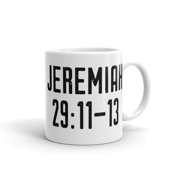 Jeremiah 29: 11-13 Mug - Old Testament Bible Verse Gift - Catholic Faith & Prayer Coffee Cup