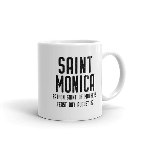 St. Monica Pray for Us Mug - Patron Saint of Mothers - Catholic Mom Gift – Nun Sister Mom RCIA Confirmation Graduation Baptism