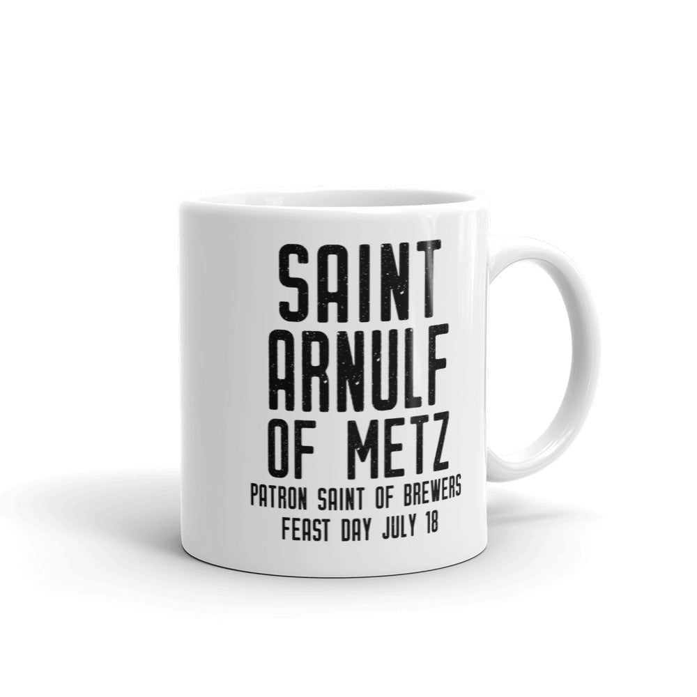 St. Arnulf of Metz Mug - Patron Saint of Brewers - Catholic Father's Day Gift – Beer Priest Brother Dad Deacon RCIA Confirmation Graduation Baptism