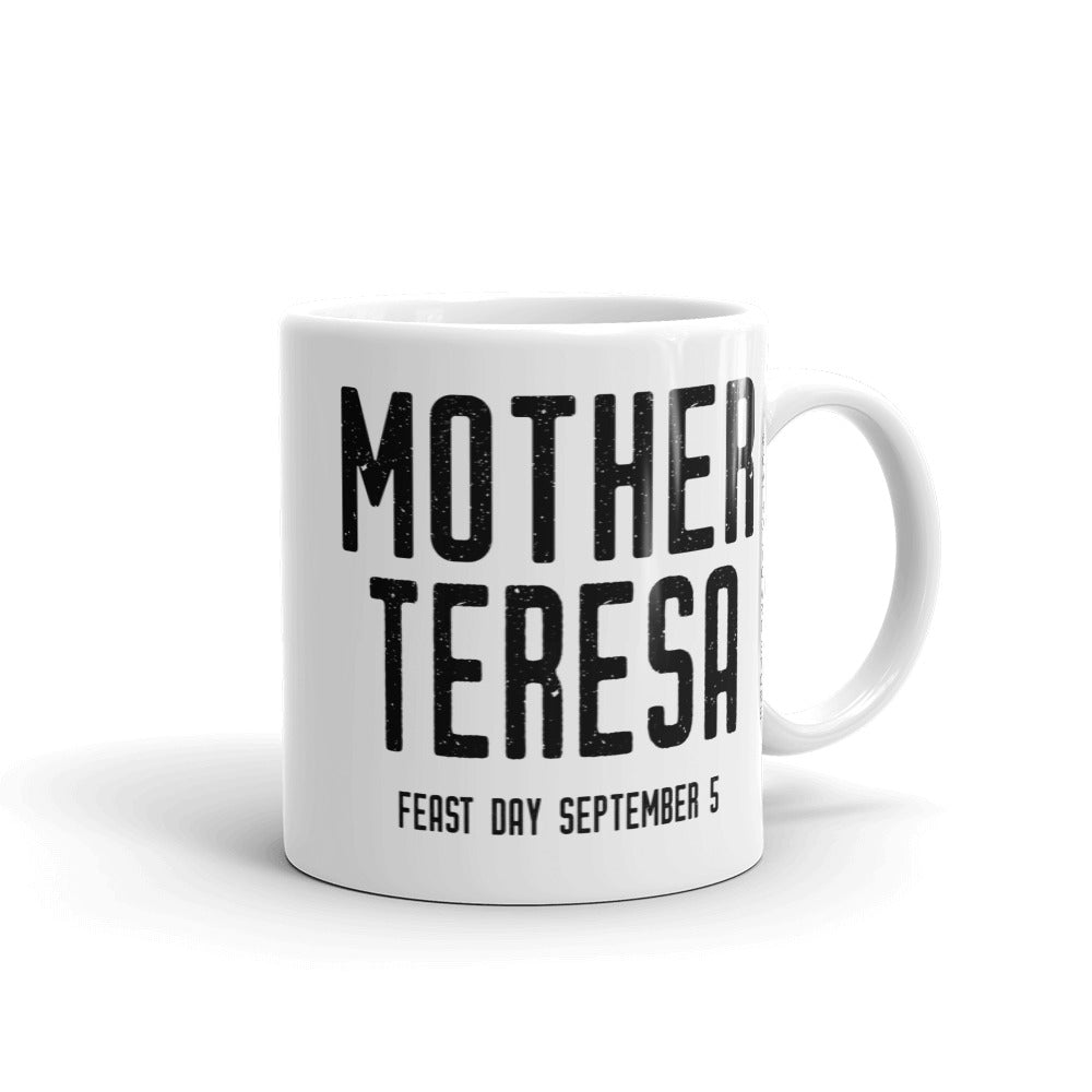 "Mother Teresa Mug – ""Small things with great love"" - Catholic Love Quote - Female Saint Gift - Baptism RCIA Confirmation"