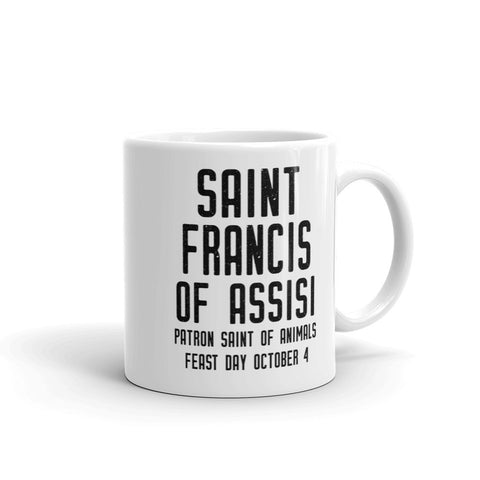 St. Francis of Assisi Mug, Patron Saint Animals, Animal Lover Gift, Veterinarian Mug, Veterinary Graduation Gift, Pet Sitter Thank You, Dog Walker Mug