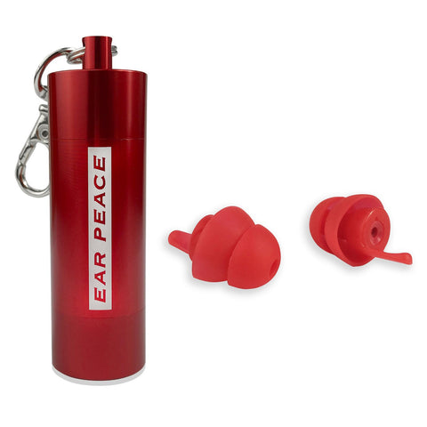 EarPeace 'S' Safety Earplugs  - Red Case
