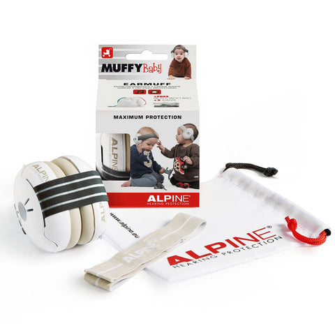 Alpine Muffy Baby Ear Defenders - Zebra