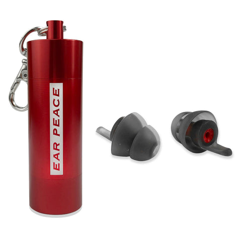 EarPeace 'M' Motorsport Earplugs  - Red Case