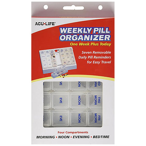 Acu-Life One Week Plus Today Pill Box