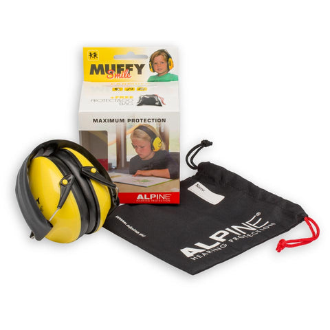 Alpine Muffy Kids Ear Defender - Yellow Smiley