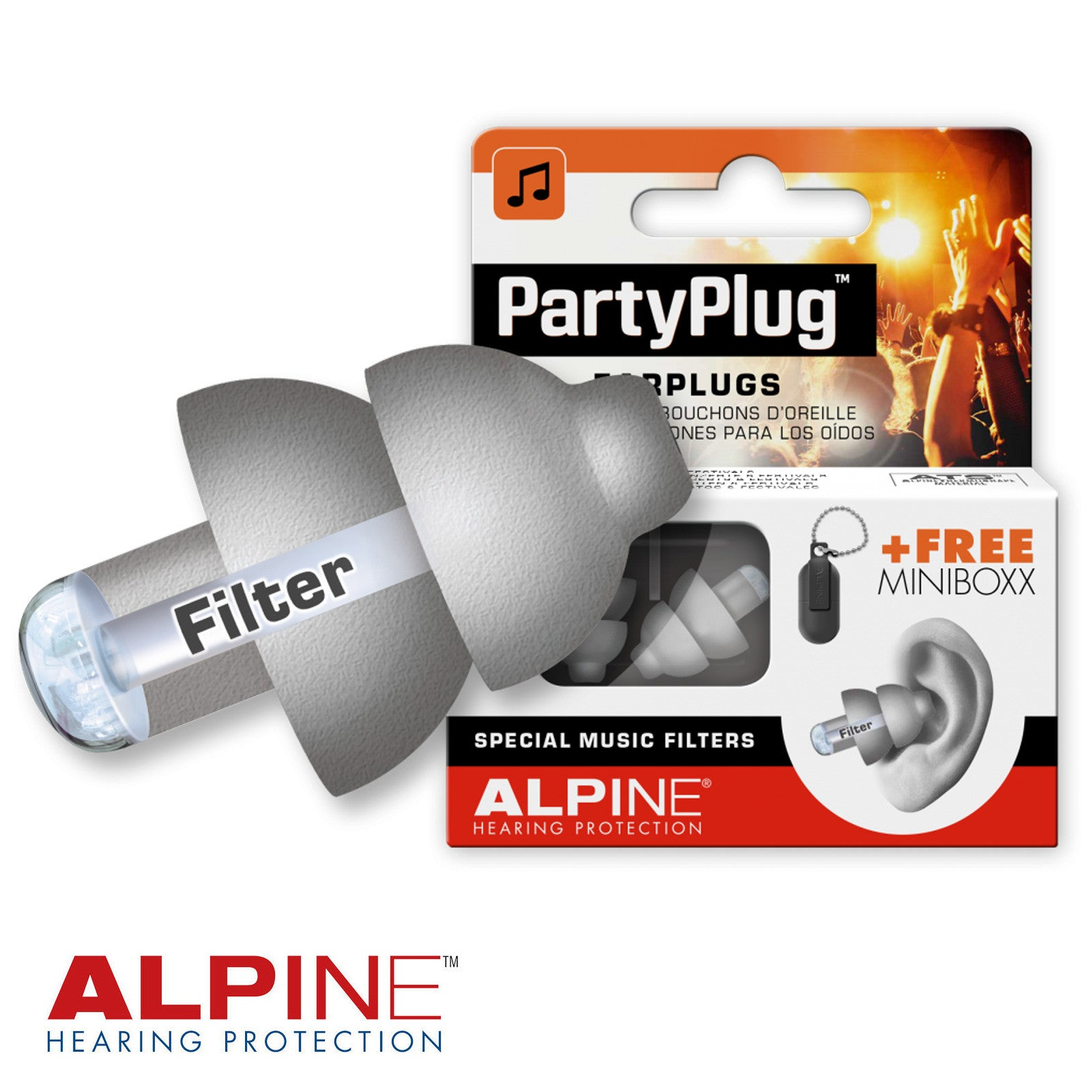 Weiterer Wassersport Alpine SurfSafe Earplugs Water and Wind Filters