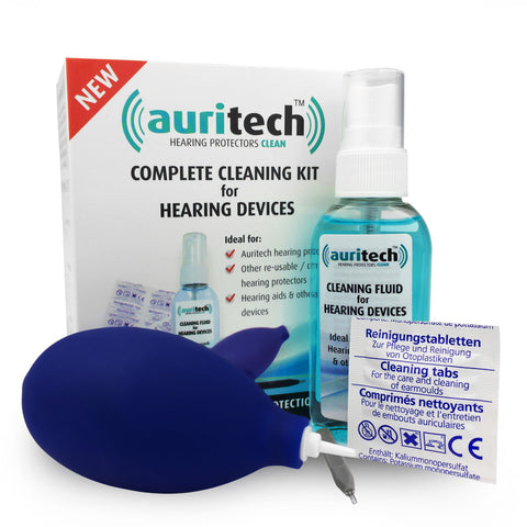 Auritech Complete Ear Plug & Hearing Aid Cleaning Kit