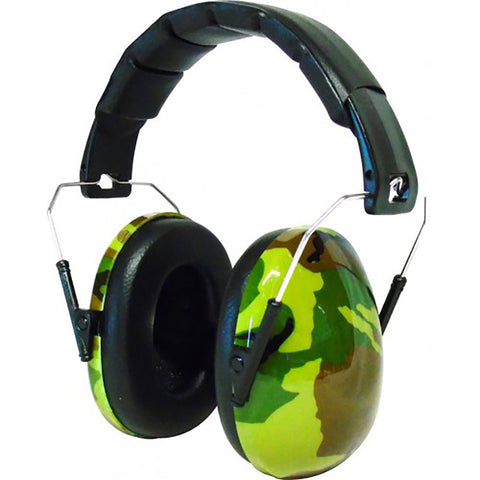 Edz Kids Ear Defenders Designer Capz - Green Camo